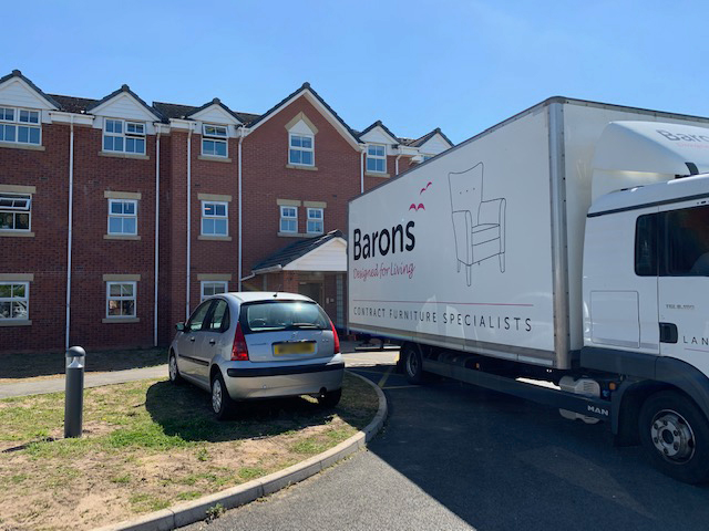 Lilycross Care Home Furniture & Barons Delivery Van