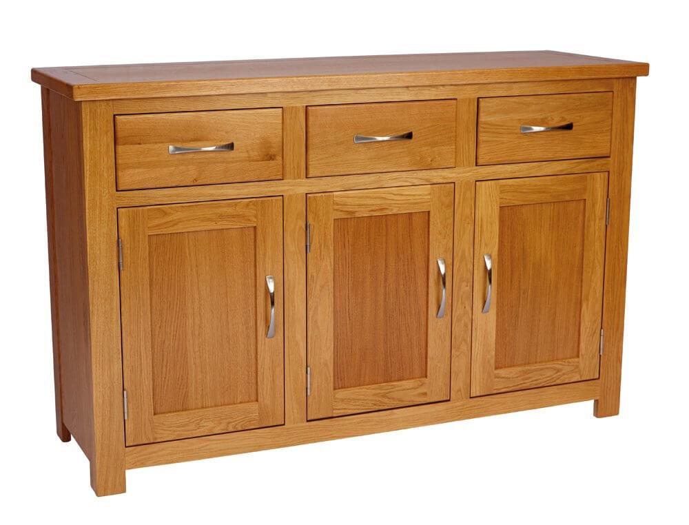 portland oak 3 door 3 drawer sideboard barons contract furniture