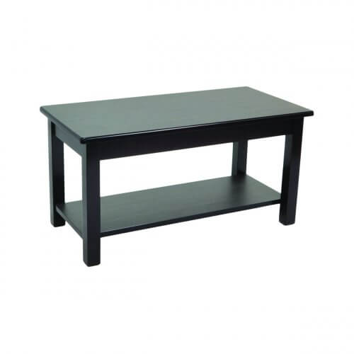 Rectangular Coffee Table With Shelf