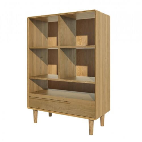 Norway 1 Drawer Wide Bookcase